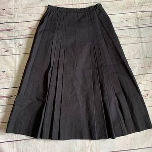 Laura Ashley Skirts - Laura Ashley black denim pleated skirt size 10